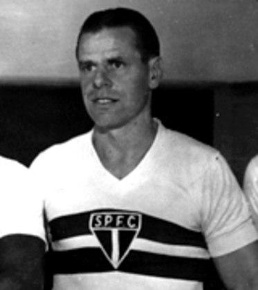 Antonio Sastre - O meia argentino disputou 129 jogos e marcou 56 gols entre os anos de 1943 e 1946 no São Paulo. Foi tricampeão paulista em 1943, 1945 e 1946.