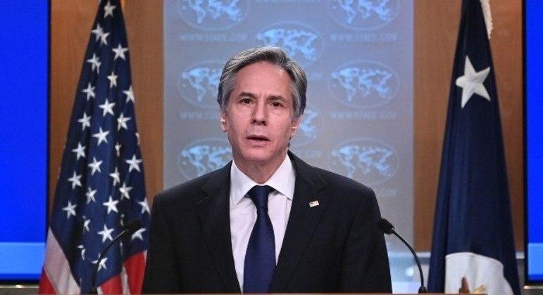 Comunicado foi feito por Antony Blinken, chefe da diplomacia americana
