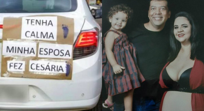 Na chegada da segunda filha, Marcos Cândido pediu calma aos motoristas na volta para casa