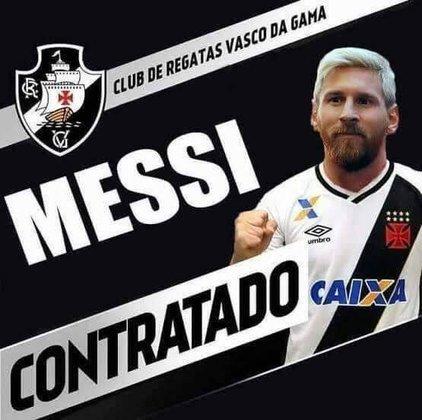 Anúncio da contratação de Lionel Messi pelo Vasco