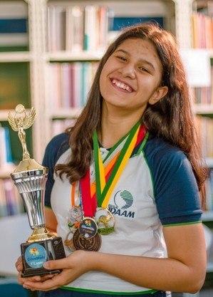 Anylla já conquistou 19 medalhas