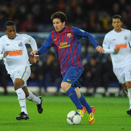 Apesar da ótima fase que Neymar vivia no Santos, após a conquista da Libertadores de 2011, o brasileiro não teve chance no Mundial. O Barcelona venceu de goleada, com dois gols de Messi