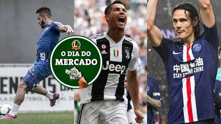 Apesar da pandemia do novo coronavírus, o mercado da bola não para. Esse sábado foi agitado, com atacante de saída do Santos, Cristiano Ronaldo com futuro encaminhado e Cavani deve jogar em solo português. Veja essas e outras negociações!