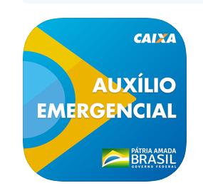 Reprodução do logotipo original do aplicativo Auxílio Emergencial da Caixa