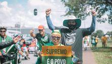 Manifestantes fazem buzinaço contra Doria e STF em Guarujá (SP)