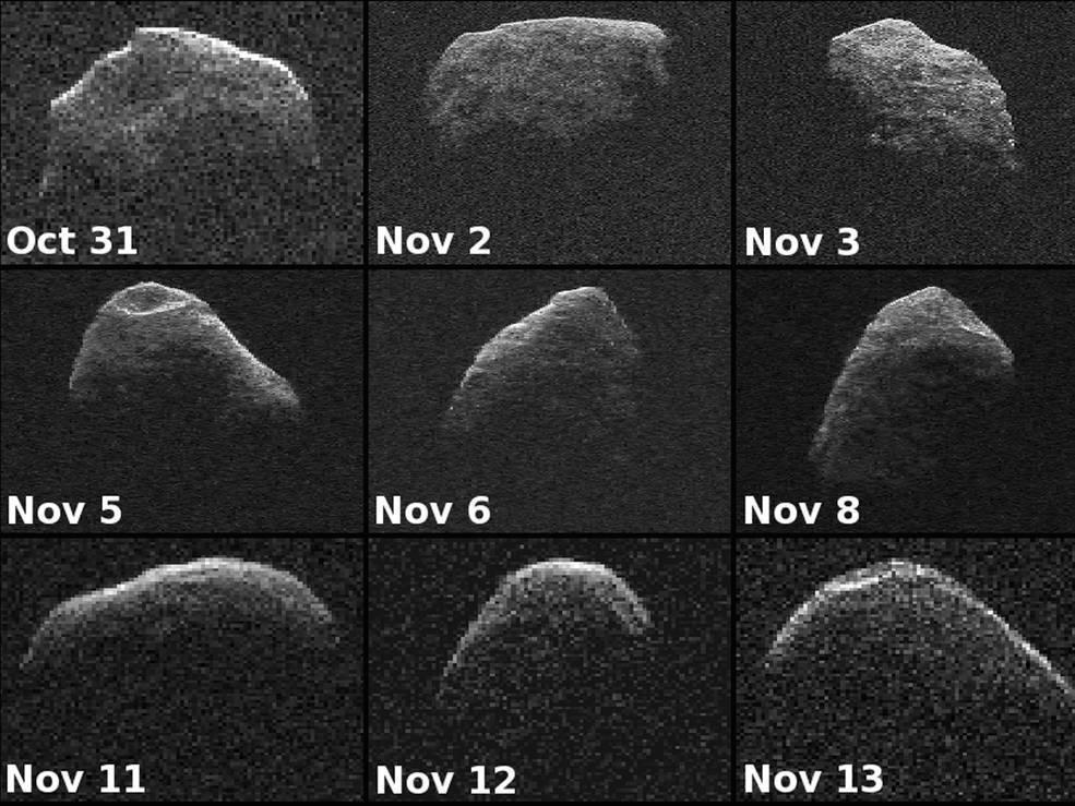 Imagens do astro capturadas entre 31 de outubro e 13 de novembro de 2012
