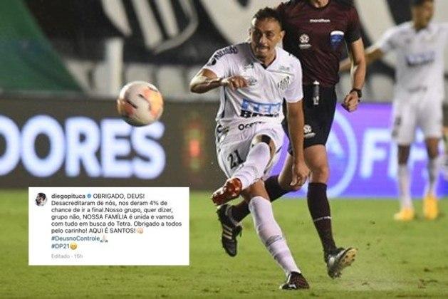 Após a classificação para a final da Copa Libertadores, jogadores do Santos, como Diego Pituca, fizeram postagens em redes sociais. Veja algumas!