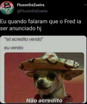 Após anúncio oficial do retorno de Fred ao Fluminense, torcedores postaram memes nas redes sociais
