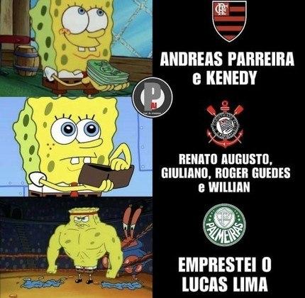 Após contratação de Willian, torcedores fazem memes com pacotão de reforços do Corinthians.
