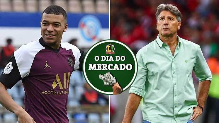 Após eliminação na pré-Libertadores, Renato Gaúcho deixou o comando do Grêmio que já procura um substituto. Mbappé é diariamente pressionado para permanecer no PSG. Tudo isso e muito mais no Dia do Mercado de quinta-feira.