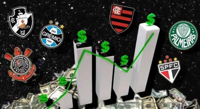 O Campeonato Brasileiro se encaminha para o fim e até agora não sabemos quem ficará com a taça. Enquanto os torcedores fazem seus palpites, confira qual é o valor de mercado (em reais) de cada clube que disputa nacional. Os dados são estipulados pelo site Transfermarkt
