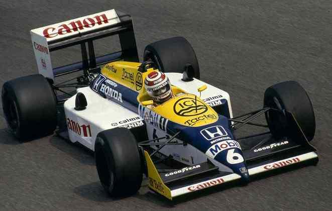 Após perder o título em 1986, a Williams atualizou o FW11 para FW11B e foi campeã de pilotos com Nelson Piquet, além de assegurar o título de equipes também