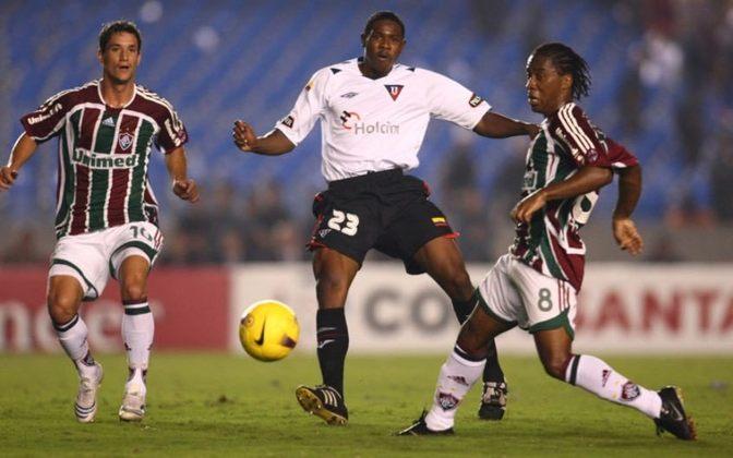 Após perder por 4 a 2 fora de casa na primeira partida, o Fluminense venceu a LDU por 3 a 1, no jogo de volta da final da Libertadores de 2008. No entanto, o time equatoriano foi campeão nos pênaltis e ergueu a taça em pleno Maraca.