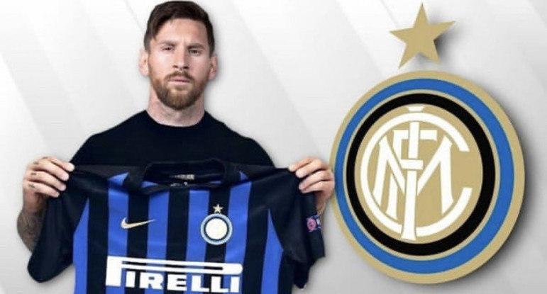Após saída do Barcelona, montagens na web colocam Lionel Messi em outros clubes - Internazionale de Milão