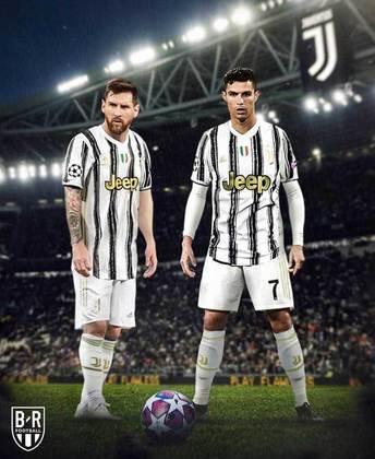 Após saída do Barcelona, montagens na web colocam Lionel Messi em outros clubes - Juventus