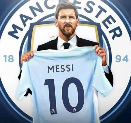 Após saída do Barcelona, montagens na web colocam Lionel Messi em outros clubes - Manchester City