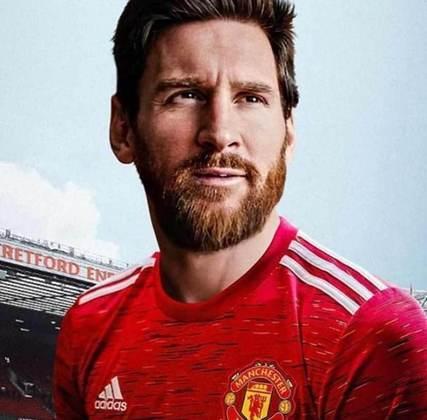 Após saída do Barcelona, montagens na web colocam Lionel Messi em outros clubes - Manchester United