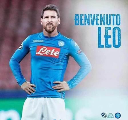 Após saída do Barcelona, montagens na web colocam Lionel Messi em outros clubes - Napoli