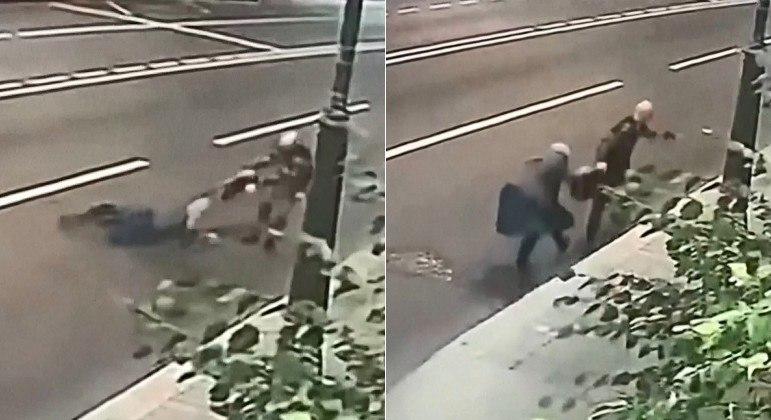 Aposentada permaneceu agarrada à bolsa para impedir roubo, em rua de Moscou, na Rússia