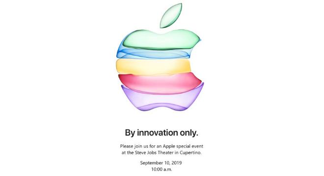 Convite divulgado pela Apple para o evento