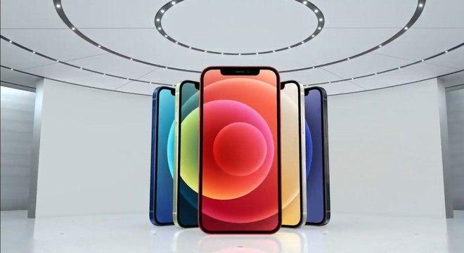 Novo iPhone 12 terá cinco opções de cores: preto, branco, azul, vermelho e verde