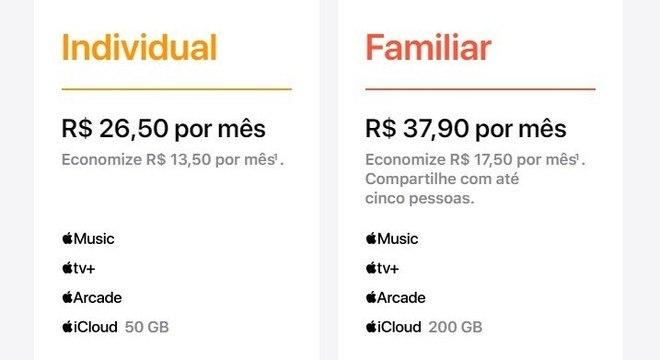 Preços da versão nacional foram divulgadas no site da Apple