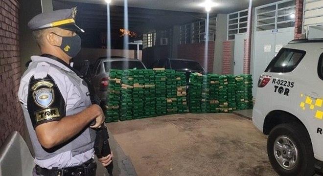 Droga vinha de Guaíra, no Paraná, segundo polícia