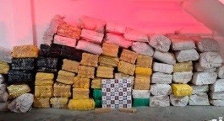 Dez foram presos com duas toneladas de maconha