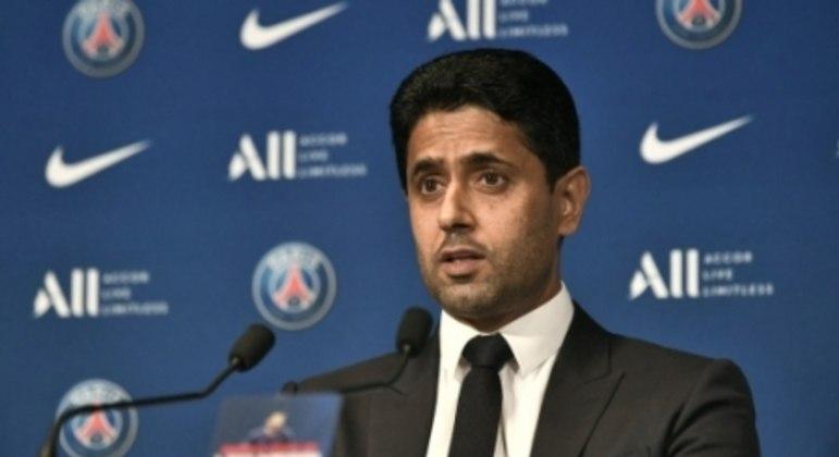 Apresentação de Messi no PSG - Nasser Al-Khelaïfi, presidente do PSG