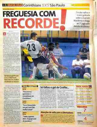 Àquela altura, o São Paulo ostentava sete jogos de invencibilidade contra o Corinthians, além de ter registrado a maior goleada da história dos Majetosos em Brasileiros.