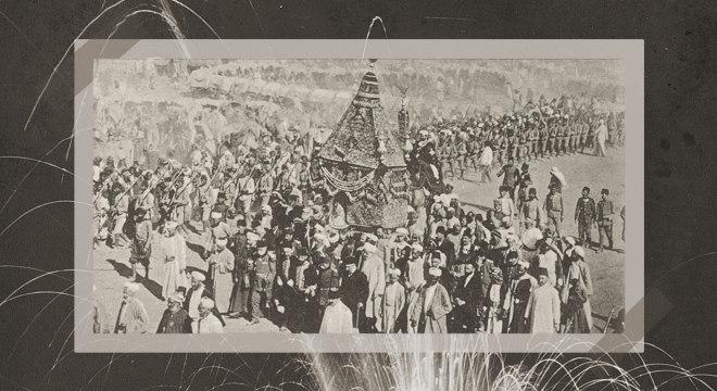 Procissão em Medina em 1916: Família Saud tomou o poder logo após 1ª Guerra