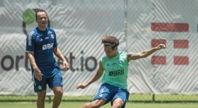 Arão e Nelson Simões - Treino do Flamengo