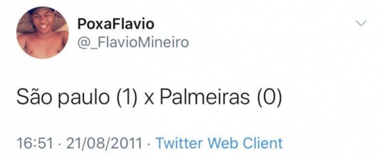 Perfil do árbitro Flávio Roberto Mineiro Ribeiro - Reprodução/Twitter
