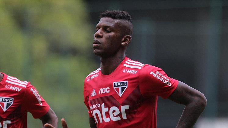 Arboleda - o zagueiro equatoriano de 29 anos tem vínculo com o São Paulo até junho de 2022.