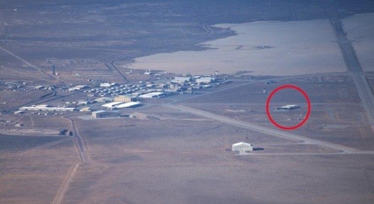 Instalação secreta foi fotografada por piloto em voo autorizado