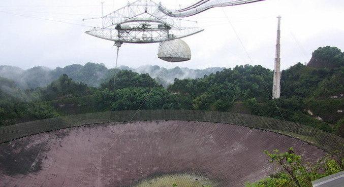 Radiotelescópio está desativado desde o final de 2020