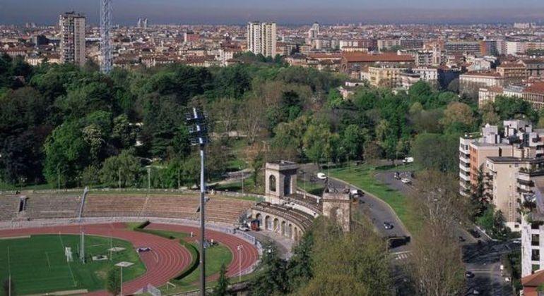 A Arena Civica do Parco Simeone, em Milão