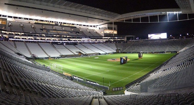 A Arena Corinthians, agora vazia