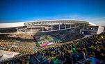 Em 2014, mais uma empresa foi cogitada em Itaquera: a Kalunga. A marca que patrocinou o Corinthians entre 1985 e 1994 e teria oferecido R$ 350 milhões pelo direito do uso do nome da Arena Corinthians, por 20 anos