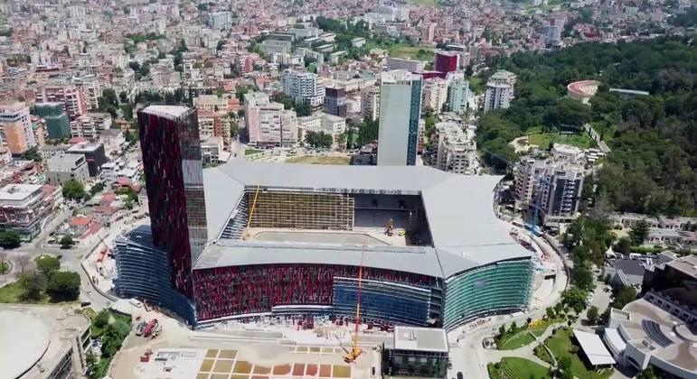 A Arena Kombelare em Tirana, Albânia