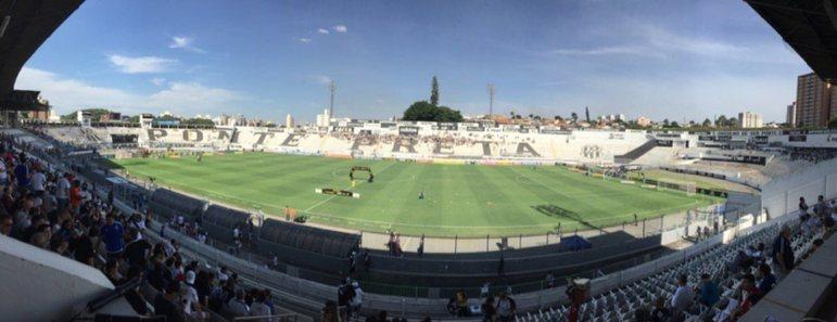 Arena Ponte Preta: Ponte Preta - Capacidade: 22.200- Previsão de entrega: sem previsão - Atualmente o clube atua no Moisés Lucarelli.