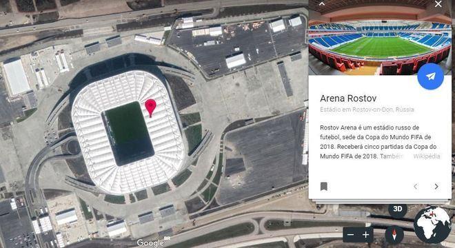 A vista área dos estádios permite perceber melhor os detalhes da arquitetura