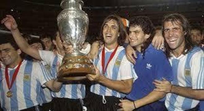 Argentina, a campeã da Copa América de 1993