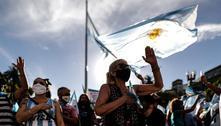Argentinos protestam contra o escândalo das vacinas 'vip'