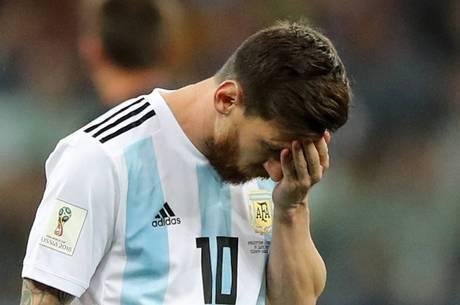 Messi ficou desolado após a derrota para a Croácia