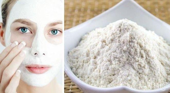argila branca no rosto