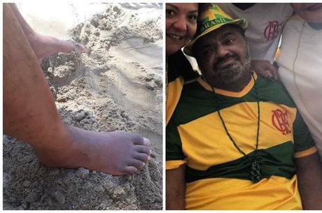 Arlindinho mostrou o pai pela primeira vez na praia