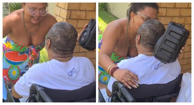 Babi cantou e dançou para homenagear o marido pelos 63 anos