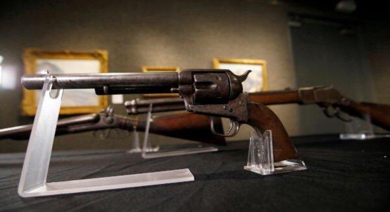 O revólver Colt calibre .44 pertencia ao xerife Pat Garrett