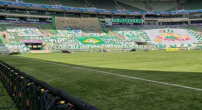 Materiais da TUP na primeira partida da final do Campeonato Paulista